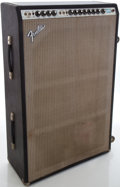Musical Instruments:Amplifiers, PA, & Effects, 1970's Fender Super Six Reverb Silverface Guitar Amplifier,#B15608....