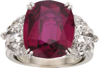 Ruby, Diamond, Platinum Ring