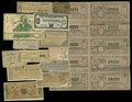 Miscellaneous:Other, Miscellany.. This lot consists of an uncut sheet of eight Cubanlottery tickets of 1935, United States Lottery ticket of 177...(Total: 14 items)