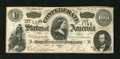 Confederate Notes:1864 Issues, T65 $100 1864. No folds are detected, but there are a couple of pinholes. Crisp Uncirculated....