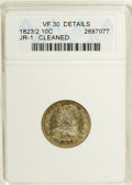 Bust Dimes: , 1823/2 10C Small Es--Cleaned--ANACS. VF30 Details. JR-1. NGCCensus: (5/76). PCGS Population (0/52). Mintage: 440,000. Numi...
