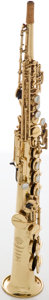 Musical Instruments:Horns & Wind Instruments, Circa 1979 Selmer Mark VI Brass Soprano Saxophone, #N.294008....