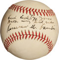Autographs:Baseballs, Circa 1940 Kenesaw Mountain Landis Single Signed Baseball....