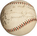 Autographs:Baseballs, 1928 Honus Wagner Single Signed Baseball....