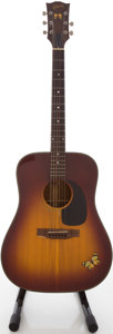Musical Instruments:Acoustic Guitars, 1970's Gibson J-40 Model Sunburst Acoustic Guitar, #673308....