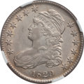 Bust Half Dollars: , 1829 50C Small Letters AU58 NGC. O-114. NGC Census: (217/265). PCGSPopulation (176/231). Mintage: 3,712,156. Numismedia W...