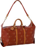 Luxury Accessories:Travel/Trunks, Louis Vuitton Limited Edition Red LV Cup Keepall 55 Overnight Bag....