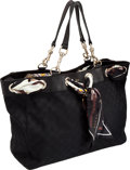 Luxury Accessories:Bags, Gucci Positano Black Scarf Tote Bag. ... (Total: 2 Items)