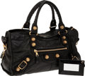 Luxury Accessories:Bags, Balenciaga Black Classic City Bag with Giant Gold Machine-TurnedHardware. ... (Total: 2 Items)