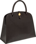 Luxury Accessories:Bags, Hermes 30cm Marron Fonce Lizard Dalvy Bag with Gold Hardware. ... (Total: 2 Items)