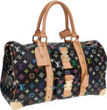 Luxury Accessories:Travel/Trunks, Louis Vuitton Black Monogram Multicolore Keepall 45 Overnight Bag....