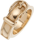 Luxury Accessories:Accessories, Hermes Gold Scarf Ring. ...