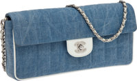 Chanel Denim Single Flap East-West Bag with Classic Chain Strap