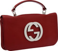 Luxury Accessories:Bags, Gucci Red Signature Oversize Clutch. ...