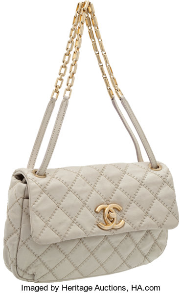 8882be1b4ab ... Luxury Accessories:Bags, Heritage Vintage: Chanel Rare Pearl Grey  Distressed Leather SingleFlap Bag ...