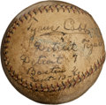 Autographs:Baseballs, 1921 Ty Cobb & Son Dual-Signed Game Used Baseball....