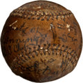 Autographs:Baseballs, 1908 Hughie Jennings Single Signed Game Used Baseball....
