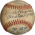 Autographs:Baseballs, 1946 Honus Wagner Single Signed Baseball....