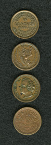 Civil War Merchants, 4-Piece Wisconsin Civil War Merchant Token Group.... (Total: 4tokens)