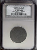 1788 1C Massachusetts Cent, Period--Improperly Cleaned--NCS. XF Details. NGC Census: (0/0). PCGS Population (50/111). (#...