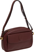 Luxury Accessories:Bags, Cartier Burgundy Camera Bag. ...