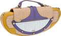 Luxury Accessories:Bags, Fendi Beige, Purple, and Yellow Mirror Clutch with Strap. ...