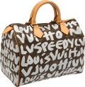 Luxury Accessories:Bags, Louis Vuitton 2001 Graffiti Collection by Stephen Sprouse SilverClassic Monogram Speedy 30 Bag. ...