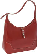 Luxury Accessories:Bags, Hermes 31cm Rouge H Epsom Leather Trim Bag with Palladium Hardware....