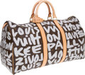 Luxury Accessories:Bags, Louis Vuitton 2001 Graffiti Collection by Stephen Sprouse SilverClassic Monogram Keepall 50 Bag. ...