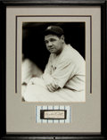 Autographs:Others, 1930's Babe Ruth Signed Cut Signature Display....