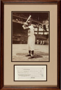 Autographs:Checks, 1960 Jackie Robinson Signed Check....