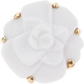 Luxury Accessories:Accessories, Chanel White Agate 18k Gold Camelia Flower Ring. ...