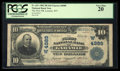 National Bank Notes:Wyoming, Laramie, WY - $10 1902 Plain Back Fr. 631 The First NB Ch. #(W)4989. ...