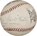 "Autographs:Baseballs, 1926 ""Babe"" Ruth Single Signed Baseball from Day of LongestHomer...."