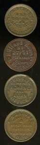 Civil War Merchants, Quartet of Civil War Merchant Tokens.... (Total: 4 tokens)