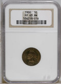 Proof Indian Cents: , 1900 1C PR65 Brown NGC. NGC Census: (15/8). PCGS Population (2/4).Mintage: 2,262. Numismedia Wsl. Price: $272. (#2387)...