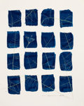Photographs, MARTHA CASANAVE. Untitled, 2004. Hand tinted cyanotype photogram. 13-1/2 x 11-1/2 inches (34.3 x 29.2 cm). Dated in penc...
