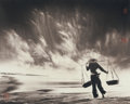 Photographs:20th Century, DON HONG-OAI (Chinese, 1929-2004). Untitled (SandstormVietnam), 1984. Bromide. 10-7/8 x 13-5/8 inches (27.6 x 34.6cm)...