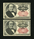 Fractional Currency:Fifth Issue, Fr. 1309 25c Fifth Issue Two Examples. Very Fine-Extremely Fine.. ... (Total: 2 books)