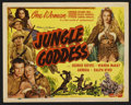 """Movie Posters:Adventure, Jungle Goddess (Screen Guild Productions, 1948). Title Lobby Card(11"""" X 14""""). Adventure. ..."""