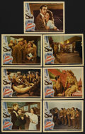 "Movie Posters:War, Ladies Courageous (Universal, 1944). Lobby Cards (7) (11"" X 14"").War. ... (Total: 7 Items)"