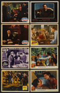 "Movie Posters:Mystery, Mystery Lot (Various, 1937-1955). Lobby Cards (8) (11"" X 14"").Mystery.... (Total: 8 Items)"