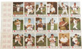 Baseball Cards:Sets, 1955 Johnston Cookies Milwaukee Braves Complete Folder Set (6). The scarcest of the Johnston's issues, the 1955 set can be f...