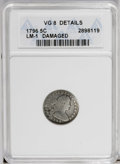Early Half Dimes: , 1796 H10C --Damaged--ANACS. VG 8 details. LM-1. NGC Census: (0/62).PCGS Population (1/73). Mintage: 10,230. Numismedia Wsl....