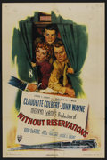 "Movie Posters:Comedy, Without Reservations (RKO, 1946). One Sheet (27"" X 41"") Style A. Comedy. ..."