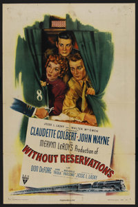 "Without Reservations (RKO, 1946). One Sheet (27"" X 41"") Style A. Comedy"