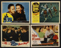 "Movie Posters:Sports, Sports Lot (Various, 1943-1952). Lobby Cards (4) (11"" X 14""). Sports.... (Total: 4 Items)"