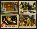 "Movie Posters:Adventure, Jungle Lot (Various, 1948-1956). Lobby Cards (4) (11"" X 14"").Adventure.... (Total: 4 Items)"