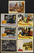 """Movie Posters:Adventure, Adventure Lot (Various, 1947-1962). Lobby Cards (7) (11"""" X 14"""").Adventure.... (Total: 7 Items)"""