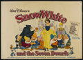 "Movie Posters:Animated, Snow White and the Seven Dwarfs (Buena Vista, R-1975). British Quad (30"" X 40""). Animated. ..."